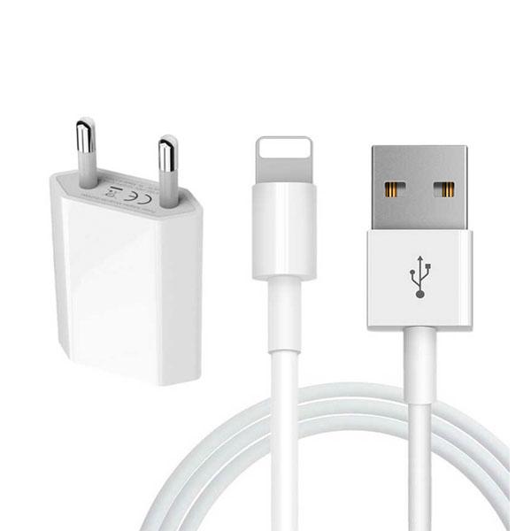 Cargador y Cable Carga USB para iPhone 1m