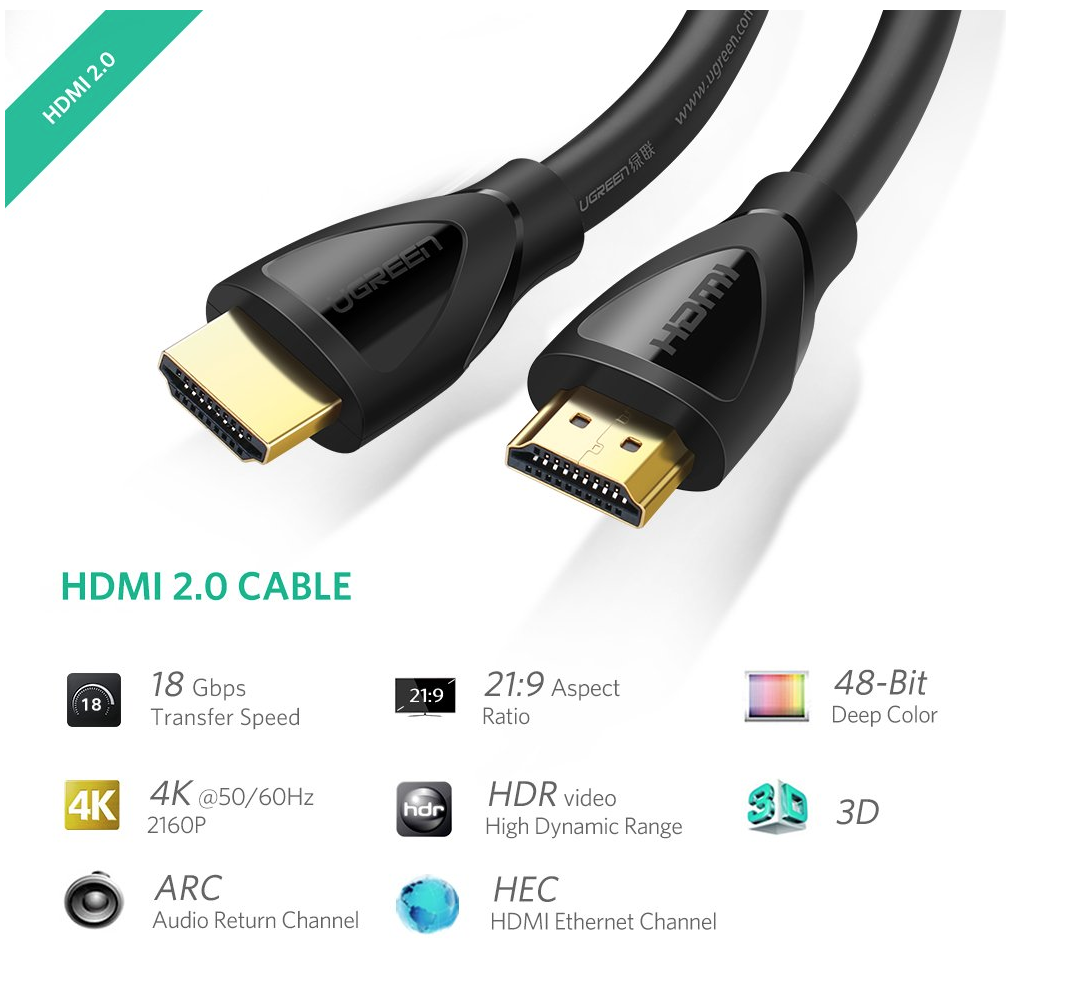 UGREEN Cable HDMI 4K de 1m