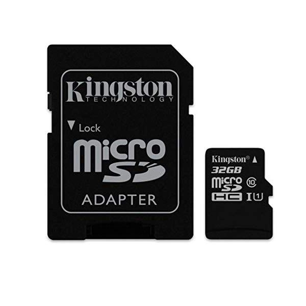 Kingston Tarjeta microSDHC de 32 GB Clase 10 con Adaptador