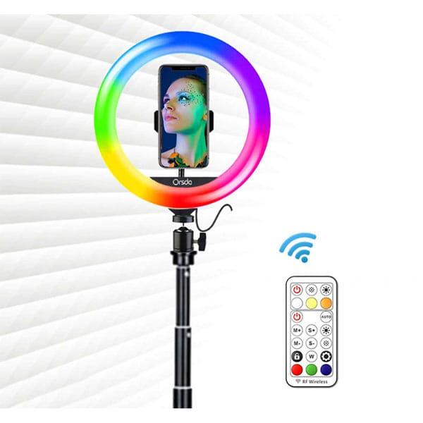 Aro luz 33cm con trípode 190cm – 26 colores – youtube-tik tok