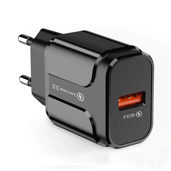 Cargador USB de 5v 3A (Carga Rápida) Color Negro